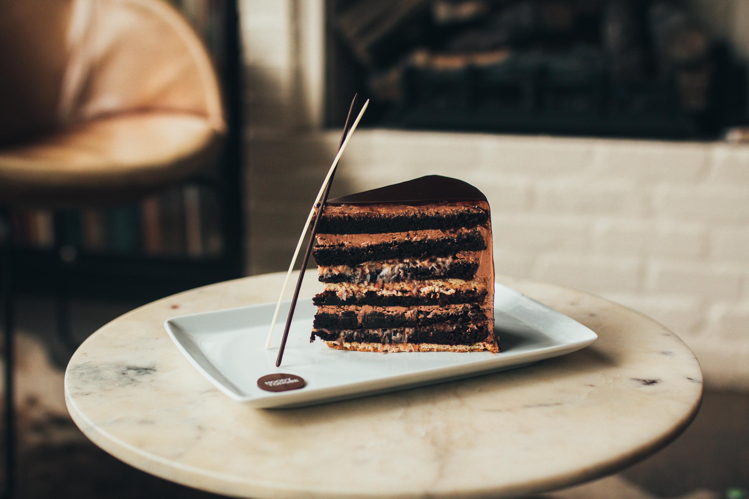 Moody Tongue 12 Layer German Chocolate Cake
