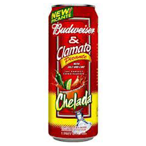 Budweiser And Clamato Chelada Picante