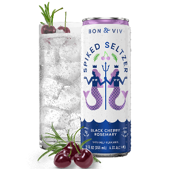 Bon & Viv Spiked Seltzer Black Cherry